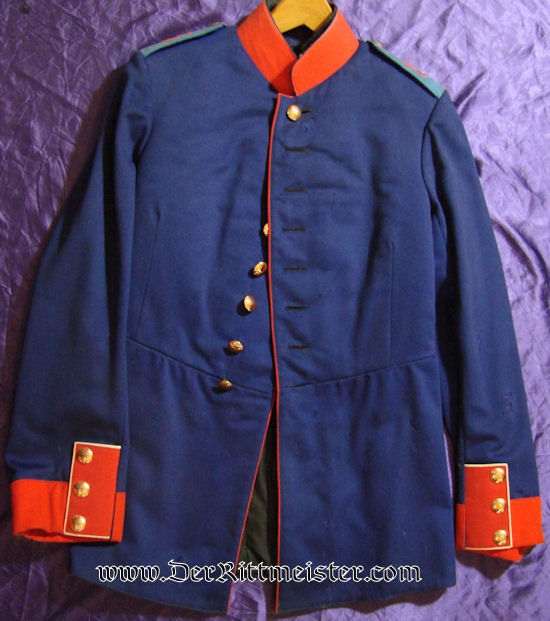 IDENTIFIED PRIVATELY-PURCHASED ENLISTED MAN'S INFANTERIE-REGIMENT Nr 15 (MACHINE GUN ABTEILUNG) TUNIC - PRUSSIA - Imperial German Military Antiques Sale