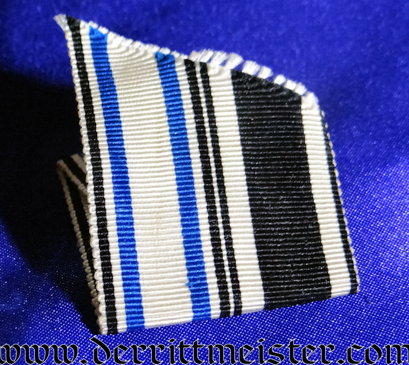 DUAL RIBBON FOR A UNIFORM FOR 1914 IRON CROSS 2nd CLASS AND BAVARIAN MILITARY MERIT CROSS 3rd CLASS WITH SWORDS - Imperial German Military Antiques Sale