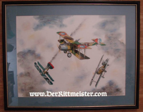 ORIGINAL PAINTING - AMERICAN SALMSON SAL 2-A-2 - by JACK D. HUNTER - Imperial German Military Antiques Sale