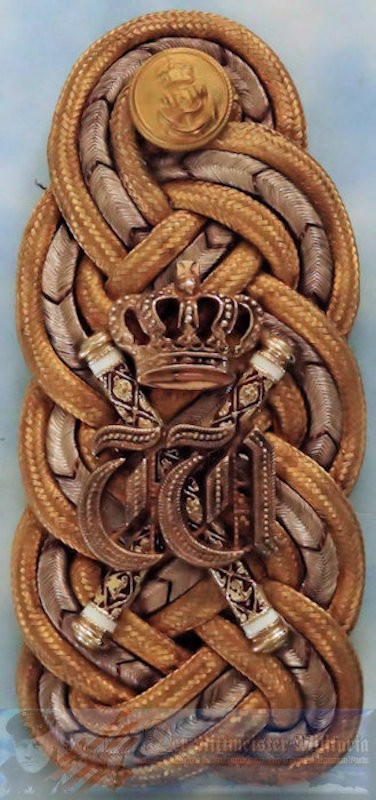 SHOULDER BOARD - KAISER WILHELM II'S GROßADMIRAL'S - Imperial German Military Antiques Sale