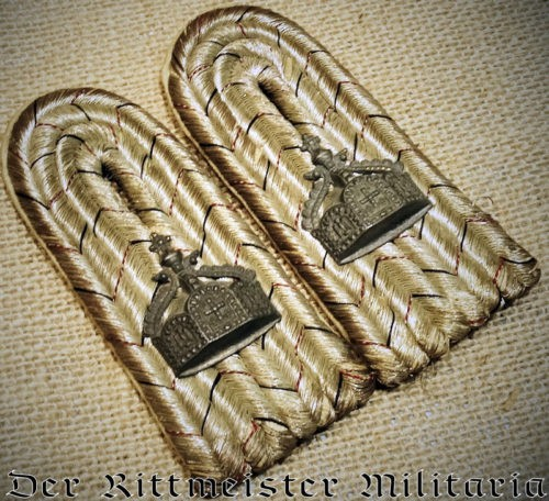 NAVAL SEE-BATAILLON LEUTNANT'S SHOULDER BOARDS - Imperial German Military Antiques Sale