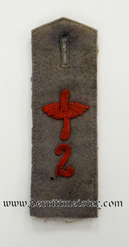 SINGLE ENLISTED MAN'S FELDGRAU SHOULDER STRAP - FLIEGER-BATAILLON Nr 2. - Imperial German Military Antiques Sale