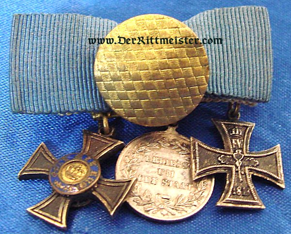 THREE-PLACE BOUTONNIERE - Imperial German Military Antiques Sale