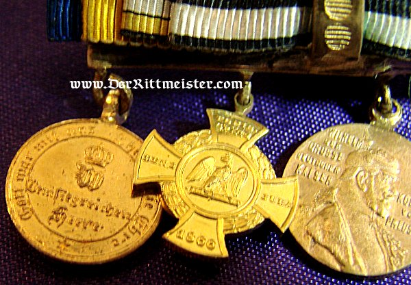29-47FOUR-PLACE MINIATURE BOUTONNIERE - Imperial German Military Antiques Sale
