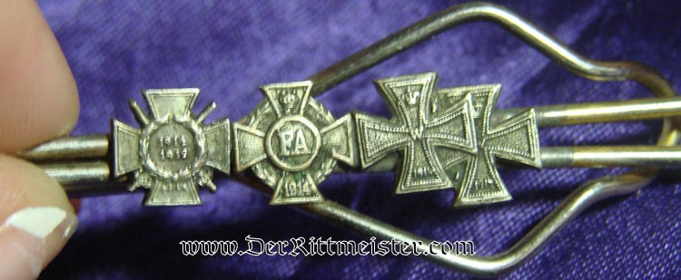 FOUR-PLACE MINIATURE TIE BAR - Imperial German Military Antiques Sale