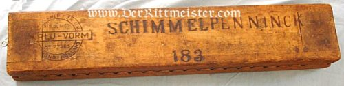 WOODEN FORM FOR DRYING AND TRANSPORTING CIGARS - Imperial German Military Antiques Sale