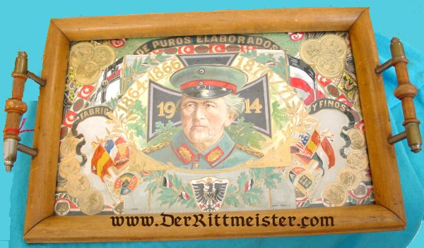 PATRIOTIC SERVING TRAY - Imperial German Military Antiques Sale