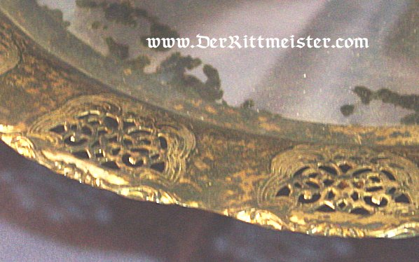SILVERED SERVING TRAY WITH MIRRORED BASE - Imperial German Military Antiques Sale