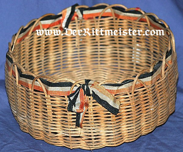 PATRIOTIC WICKER BASKET - Imperial German Military Antiques Sale