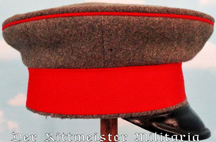 OLDENBURG - SCHIRMÜTZE -NCO -  FELDGRAU INFANTERIE-REGIMENT Nr 91/DRAGONER-REGIMENT Nr 19 - Imperial German Military Antiques Sale