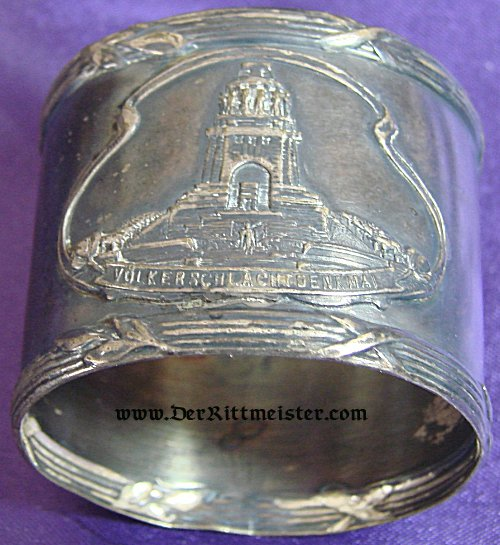 NAPKIN RING FOR THE VÖLKERSCHLACHTDENKMAL IN LEIPZIG - Imperial German Military Antiques Sale