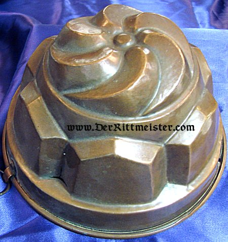 CROWN-SHAPED CAKE PAN - Imperial German Military Antiques Sale