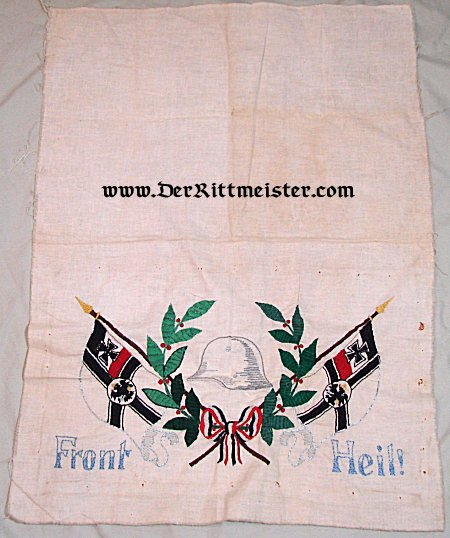 PATRIOTIC PILLOWCASE - Imperial German Military Antiques Sale