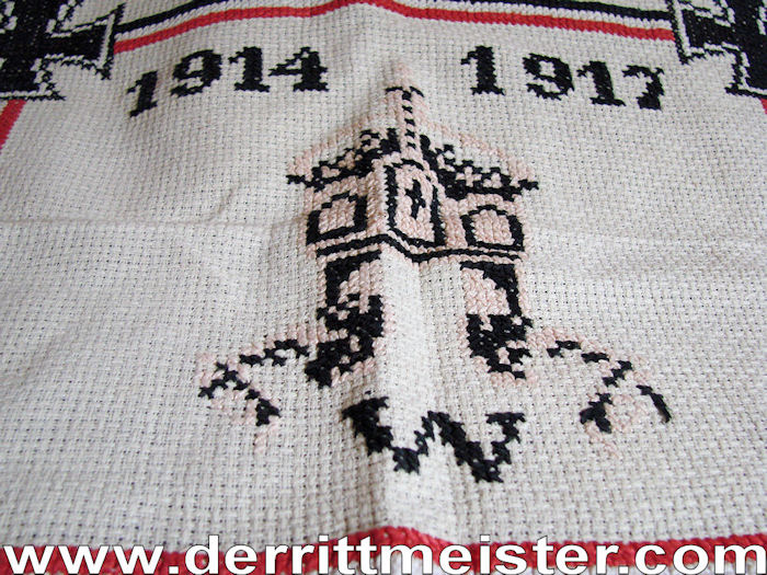 PATRIOTIC PILLOW COVER / WALL COVERING - Imperial German Military Antiques Sale