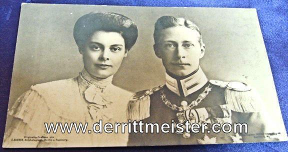 POSTCARD - KRONPRINZ WILHELM AND KRONPRINZESSIN CECILIE - Imperial German Military Antiques Sale