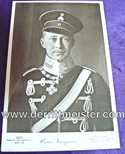 POSTCARD - KRONPRINZ WILHELM - UNIFORM - 1. LEIB-HUSAREN-REGIMENT Nr 1 - Imperial German Military Antiques Sale