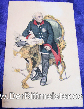COLOR POSTCARD - KÖNIG FREDERICK DER GROßE - Imperial German Military Antiques Sale