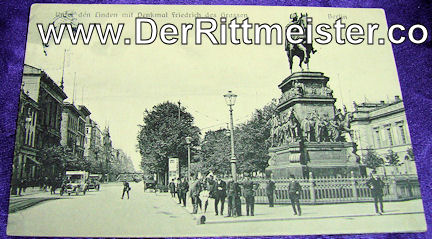 POSTCARD - BERLIN MONUMENT - KÖNIG FREDERICK DER GROßE - Imperial German Military Antiques Sale