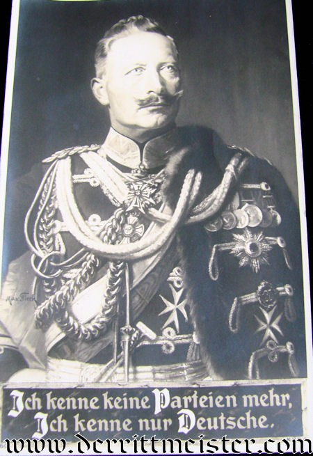 POSTCARD - KAISER WILHELM II - Imperial German Military Antiques Sale