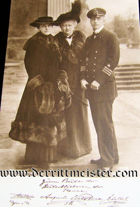 POSTCARD - KAISERIN AUGUSTE VICTORIA - PRINZ ADALBERT AND PRINZESSIN ADALBERT - Imperial German Military Antiques Sale