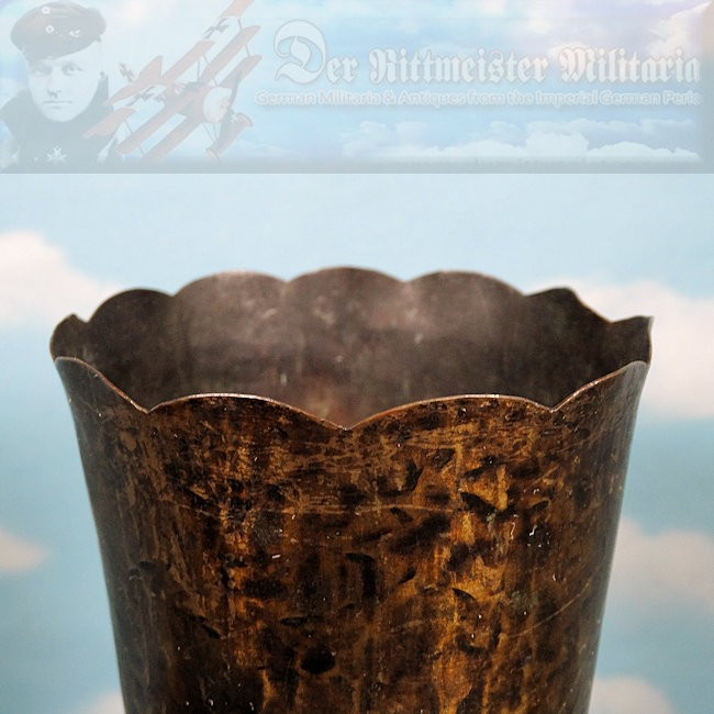 TRENCH ART - ARTILLERY SHELL VASE - Imperial German Military Antiques Sale