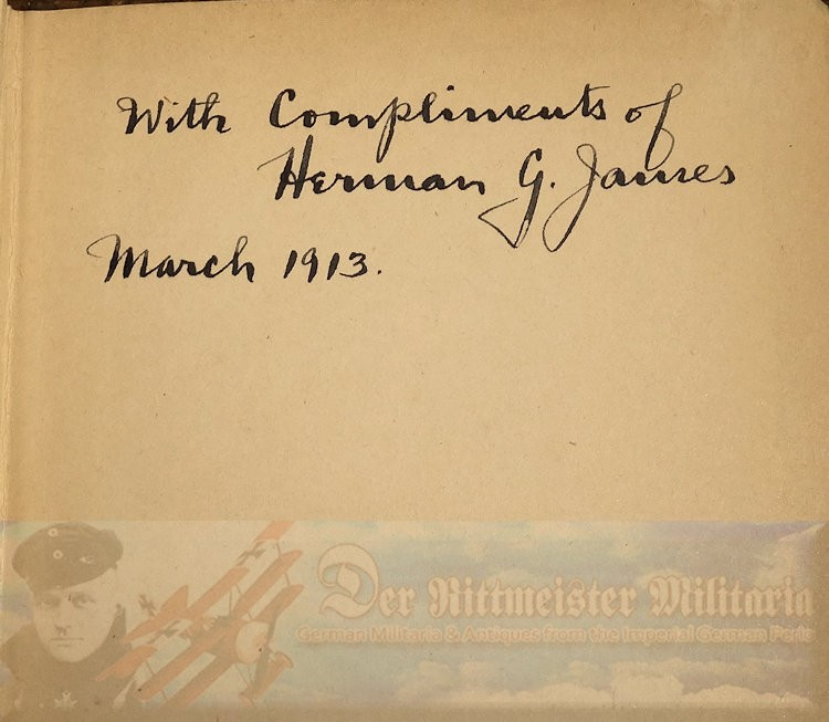 BOOK - PRINCIPLES OF PRUSSIAN ADMINISTRATION BY HERMAN GERLACH JAMES, PHD AUTOGRAPHED BY THE AUTHOR - Imperial German Military Antiques Sale