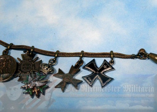 FRACK BAR - FIVE-PLACE - WITH MATCHING TIE-CHAIN DEVICE - Imperial German Military Antiques Sale