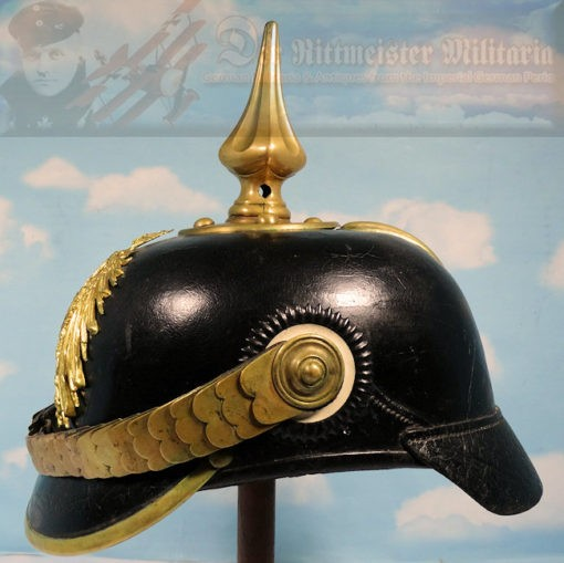 GERMAN REICH - PICKELHAUBE - NCO - BEAMTE - ELAß LOTHRINGEN (ALSACE LORAINE) - Imperial German Military Antiques Sale