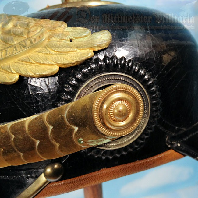 PRUSSIA - PICKELHAUBE - OFFICER - GARDE-GRENADIER/GARDE-REGIMENT ZU FUß/ REGIMENT/GARDE-TRAIN ABTEILUNG - Imperial German Military Antiques Sale