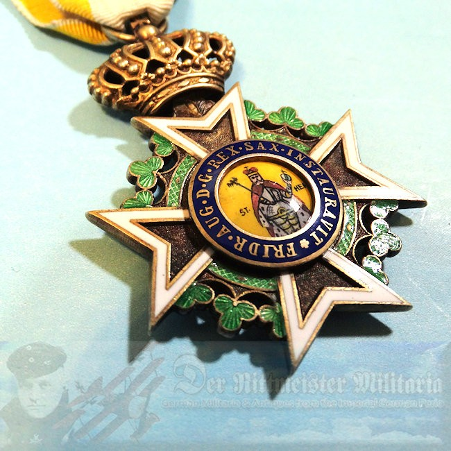 SAXONY - KNIGHT'S CROSS - MILITARY ST. HEINRICH ORDER - Imperial German Military Antiques Sale