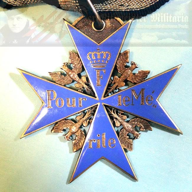 PRUSSIA - POUR LE MÉRITE - JEWELER/WEARER'S COPY - ROTHE & NEFFE - Imperial German Military Antiques Sale