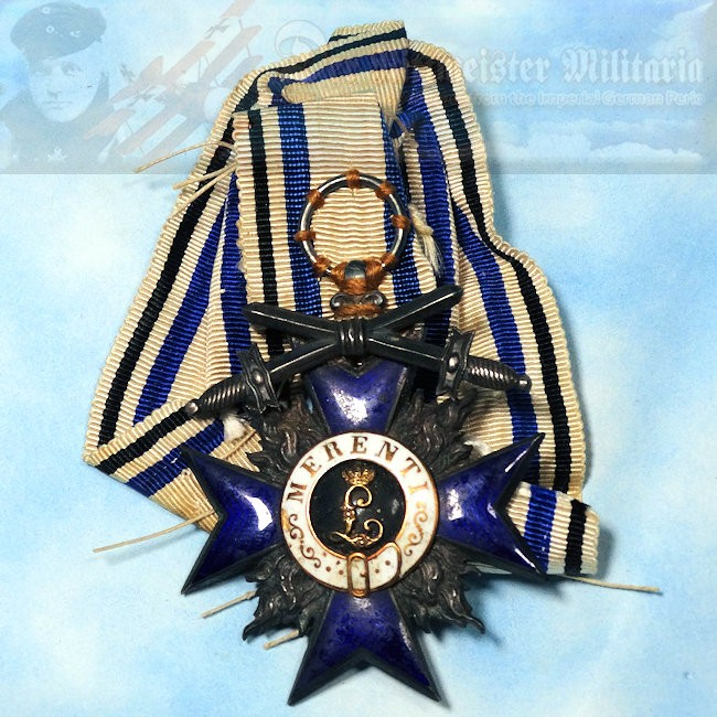 BAVARIA - MILITARY MERIT CROSS 4th CLASS WITH SWORDS - Imperial German Military Antiques Sale