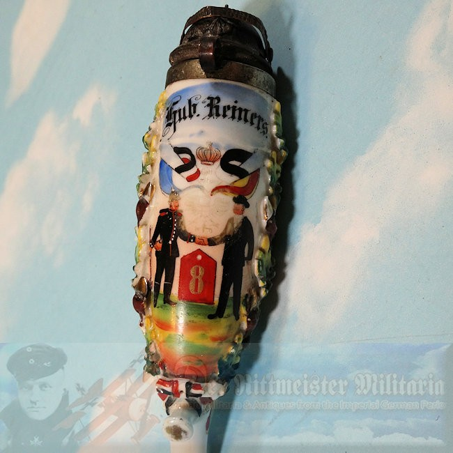 PRUSSIA - VETERAN'S PIPE HEAD - LEIB-GRENADIER-REGIMENT NR 8 - Imperial German Military Antiques Sale