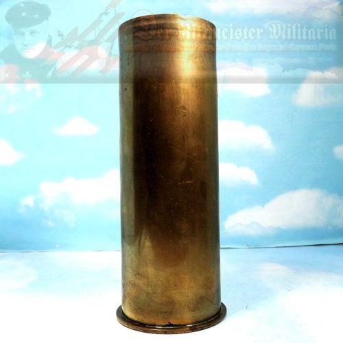 ARTILLERY SHELL CASING - 77MM - GERMAN - Imperial German Military Antiques Sale