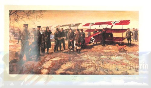 LIMITED EDITION PRINT - NUMBER 82/850 - THE LAST WORD - THE FINAL FLIGHT OF RITTMEISTER MANFRED VON RICHTHOFEN - BY JAMES DIETZ - Imperial German Military Antiques Sale