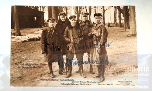 SANKE CARD - AUTOGRAPHED - MANFRED VON RICHTHOFEN - NR 511 - Imperial German Military Antiques Sale