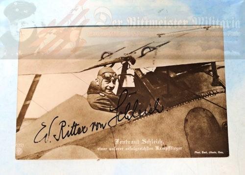 NPG CARD - AUTOGRAPHED - EDUARD RITTER VON SCHLEICH - NR 6321. - Imperial German Military Antiques Sale