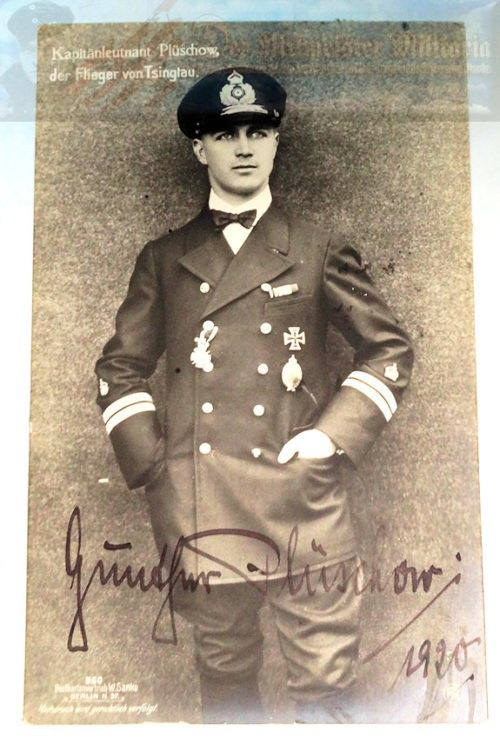SANKE CARD - AUTOGRAPHED - GUNTHER PLÜSCHOW - NR 550 - Imperial German Military Antiques Sale