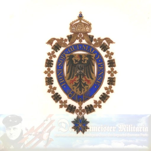 DINNER PLATE - KAISER WILHELM II's PERSONAL DINNER SERVICE ABOARD NAVAL VESSELS - Imperial German Military Antiques Sale