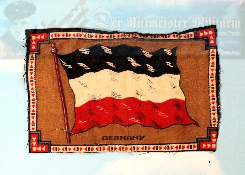TABLE-FLAG - SMALL IMPERIAL GERMAN NATIONAL - Imperial German Military Antiques Sale