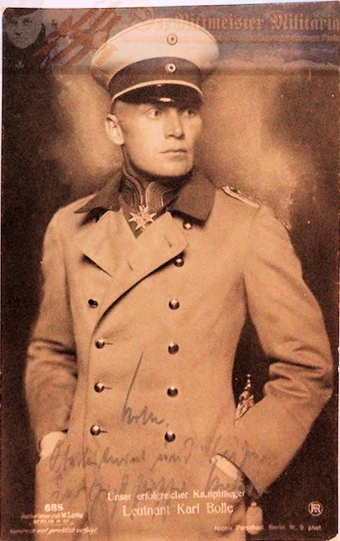 SANKE CARD - LEUTNANT KARL BOLLE- AUTOGRAPHED - NR 685 - Imperial German Military Antiques Sale