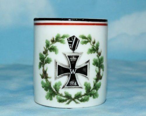 PATRIOTIC DEMITASSE (CUP) - Imperial German Military Antiques Sale