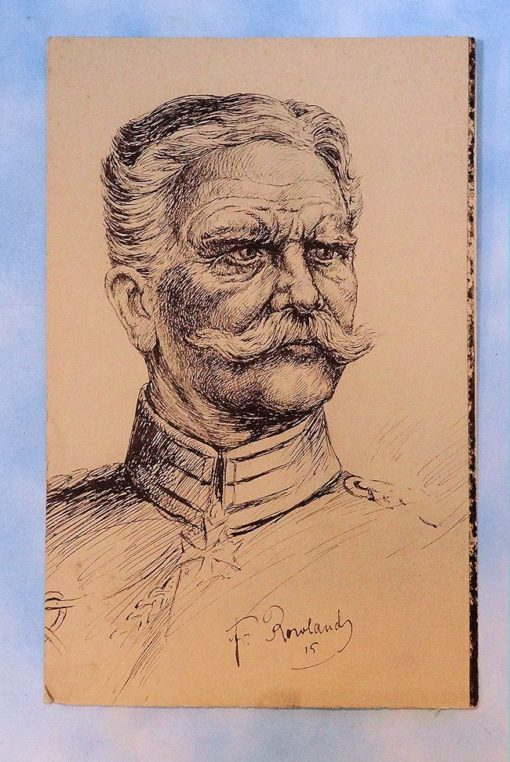 PEN AND INK DRAWING - GENERALFELDMARSCHALL AUGUST VON MACKENSEN - Imperial German Military Antiques Sale