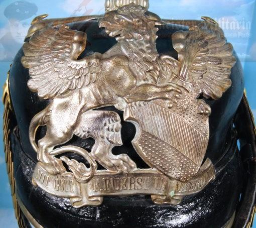 BADEN - PICKELHAUBE - ONE-YEAR-VOLUNTEER - PRE-1897 DRAGONER-REGIMENT - Imperial German Military Antiques Sale