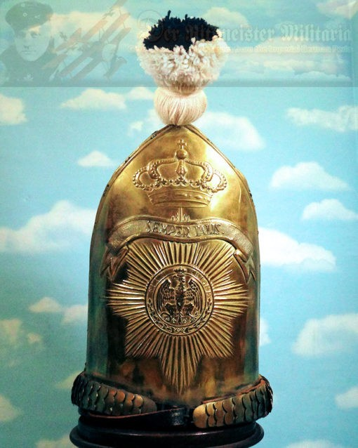MITRE - RUSSIAN-STYLE - ENLISTED MAN - ERSTE GARDE REGIMENT ZU FUß BATAILLON NR I - Imperial German Military Antiques Sale