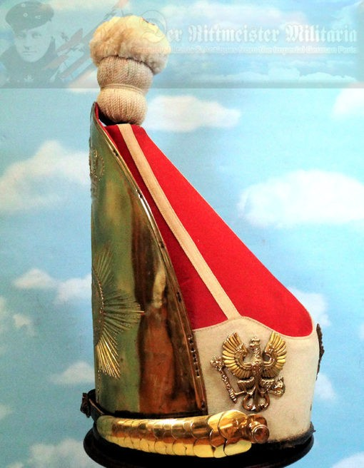 MITRE - RUSSIAN-STYLE - ENLISTED MAN - KAISER ALEXANDER GUARD GRENADIER REGIMENT 1  BATAILLON NR III (FÜSILIER) - Imperial German Military Antiques Sale