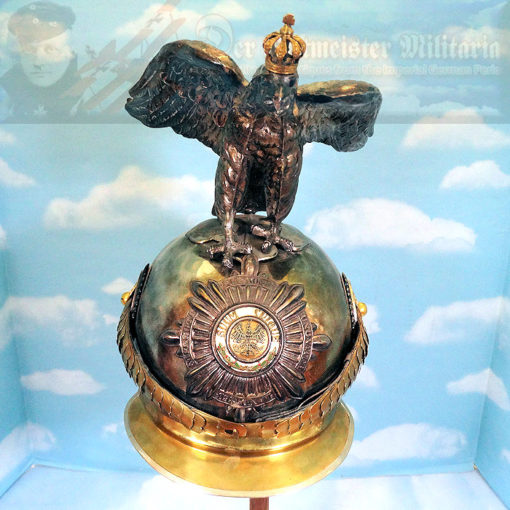 PARADE HELMET - PRUSSIA - OFFICER - GARDE DU CORPS WITH MASSIVE HOHENZOLLERN EAGLE