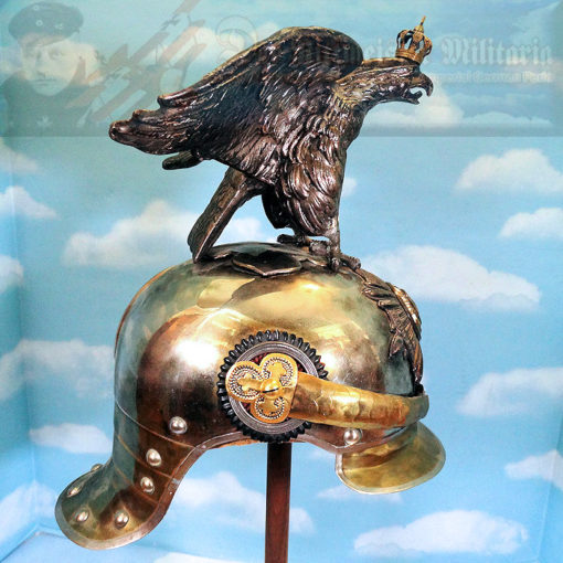 PARADE HELMET - PRUSSIA - OFFICER - GARDE DU CORPS WITH MASSIVE HOHENZOLLERN EAGLE - Imperial German Military Antiques Sale