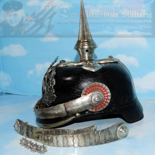 PICKELHAUBE - HESSE-DARMSTADT - OFFICER - INFANTERIE-REGIMENT Nr 115 - CONVERTED TO DRAGONER-REGIMENT Nr 23 OR NR 24 - Imperial German Military Antiques Sale