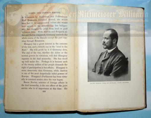 BOOK - INSIDE THE GERMAN EMPIRE 1916 - BY HERBERT BAYARD SWOPE - Imperial German Military Antiques Sale